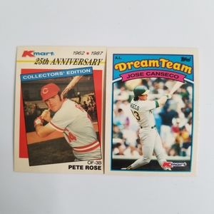 Pete Rose Jose Canseco 1987 1989 TOPPS KMART 25TH